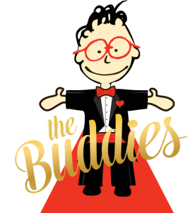 The Buddies logo (boy with words- no trophy)